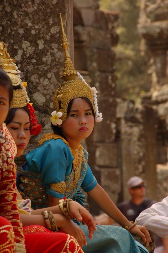 Traditional Costume at Angkor Wat