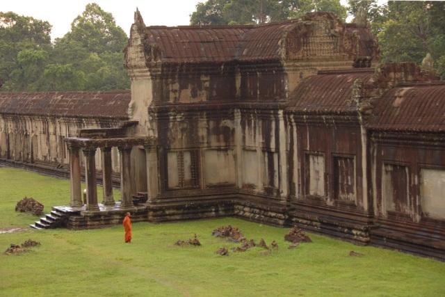 Monks at Angkor Wat after the Big Rain