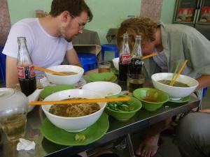 Noodles in Phnom Penh, Cambodia