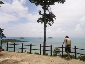 koh chang from a viewpoint near the southern tip of the island