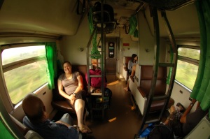 Thai train to Vientiane, Laos
