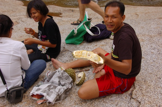 Carving Durian, the official stinky fruit.