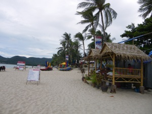 Koh Samui. What you can't see here is how pervasively crammed the beach is with bars and restaurants and massage huts...